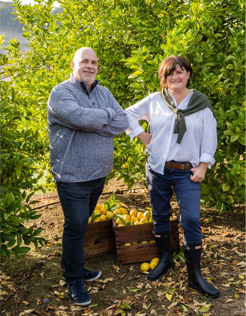 Founders of Olivigna at Pietro Gallo Estate - John and Anna